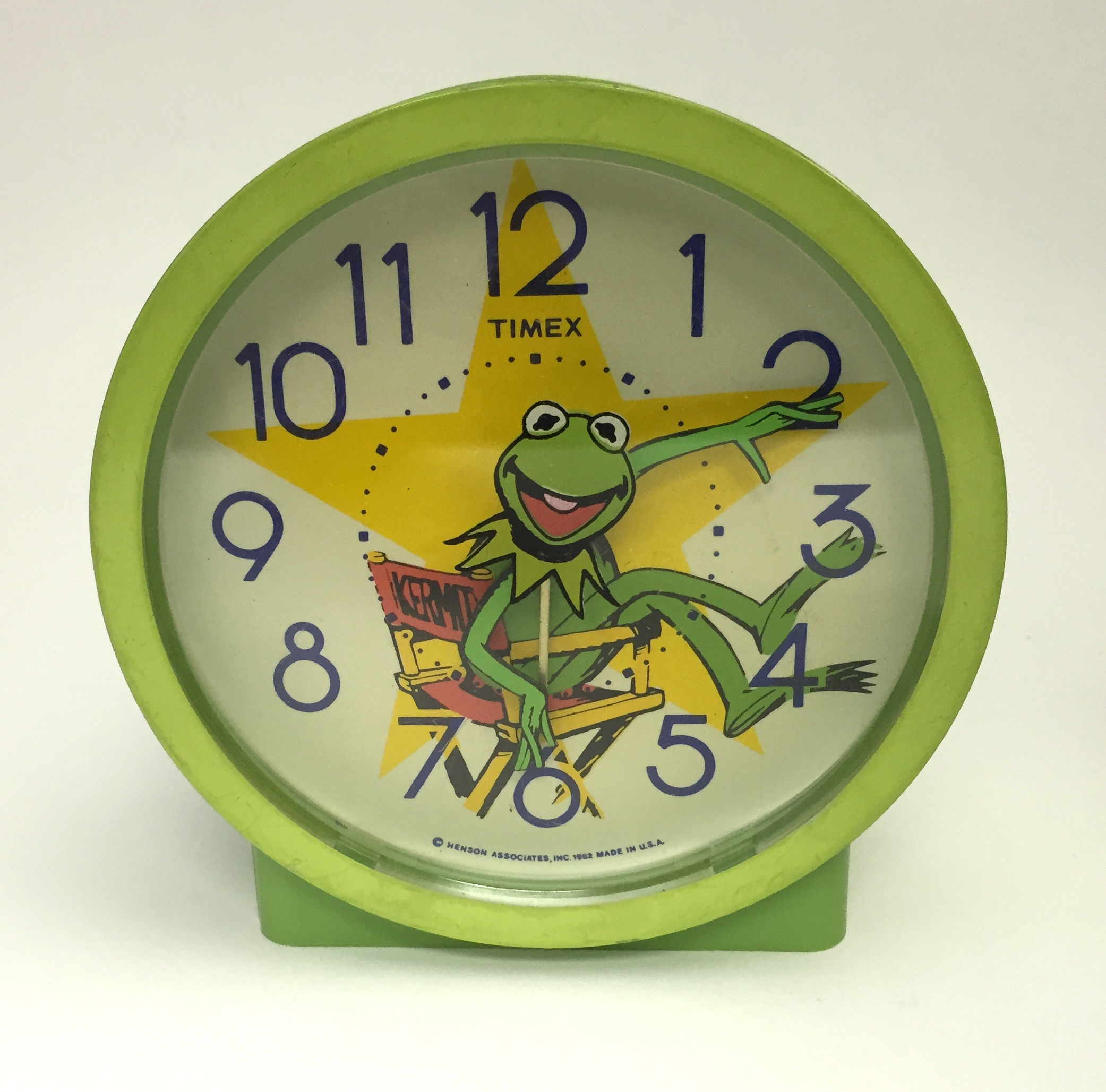 1982 Timex Muppets Kermit The Frog Alarm Clock Character